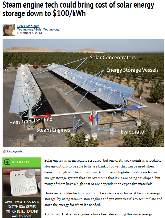 steam engine tech could bring cost of solar energy storage down to 100kwh