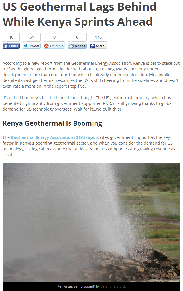 us geothermal lags behind while kenya sprints ahead